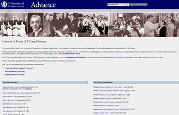 Image of History index page.