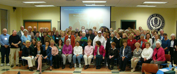 The Osher Lifelong Learning Institute at UConn provides community members, most of whom are retired or semi-retired, with opportunities to enrich their lives through intellectual development, cultural stimulation, intergenerational programming, and social interaction. Click on the photo for more about this program.