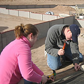 Students volunteering their time during spring break for the Habitat for Humanity Project